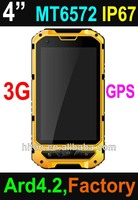 New cheapest 4 inch MTK6572 dual sim waterproof outdoor mobile phone