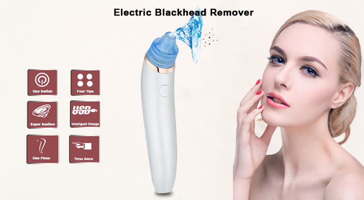 Vacuum Comedone Extractor Electronic Facial Pore Cleaner Blackhead Remover