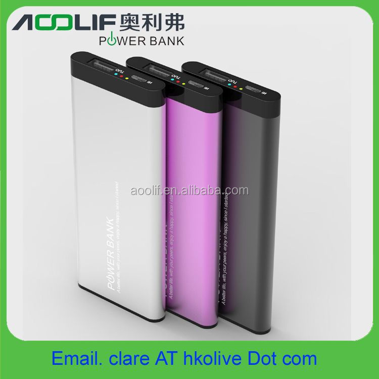 Metal slim power bank, 2800mah portable mobile charger power station