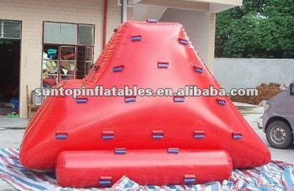 fascinating inflatable water iceberg sports game with best quality:09mm PVC Tarpaulin