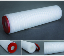 PES pleated water cartridge filter for food grade filtration