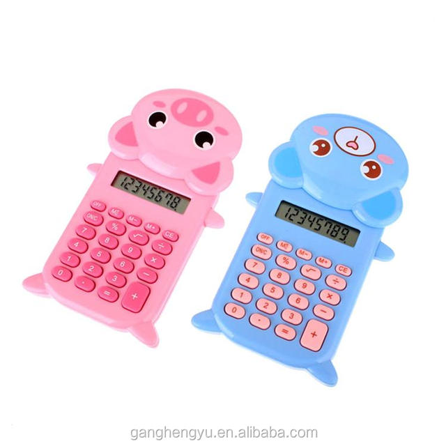 Wholesale High Quality Kids Gift Colorful Electronic Animal Shape Low Price Mini Calculator