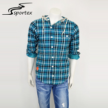 New style OEM long sleeve spring and autumn slim custom color and size outdoor men grid casual shirt
