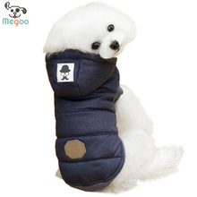 Fleece Lining Dog Clothes Winter Puppy Coat With Hood S-2XL