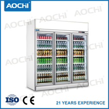 3 door showcase cooler refrigerator