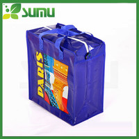 OEM printed shopping bag,promotional foldable pp non woven bag