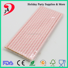 Pink Party Supplies Custom Paper Disposable Drinking Crazy Straws
