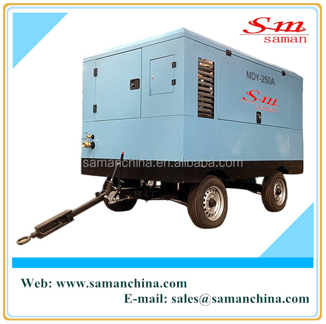 portable mobile screw air compressor