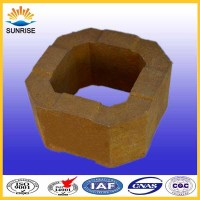 Chimney checker block magnesia bricks for upper layer of regenerator checker