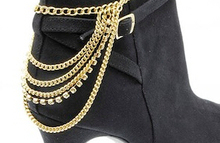 Boot Chains and leather straps for ladies boots