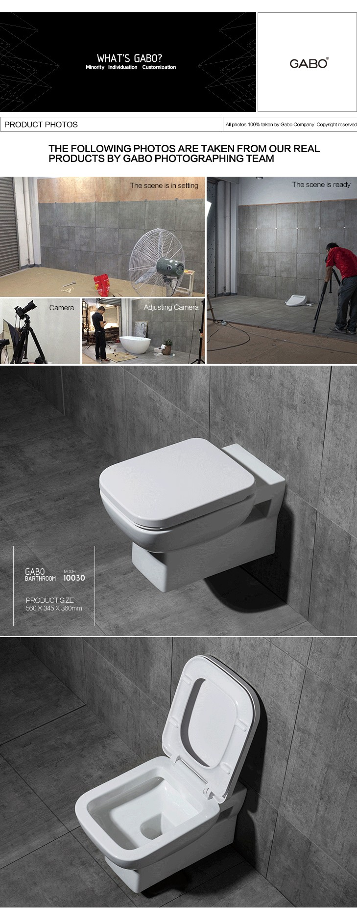Wall Mounted P-trap Toilets for Boats