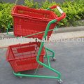 Metal durable Grocery Supermarket Shopping Trolley with your logo