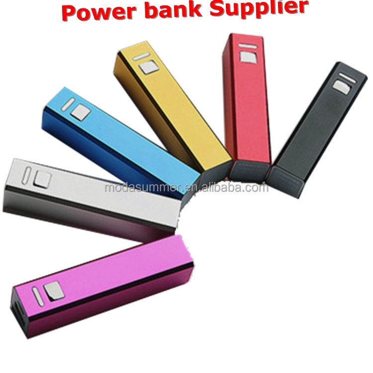 Power pack 2600mah portable power bank, classic lipstick battery charger for Smart cell phone