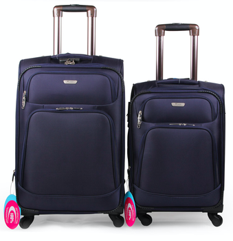 Shanghai 3 pcs set 1680D travel luggage bags with 4 wheels
