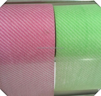 Spunlaced nonwoven fabric in twill