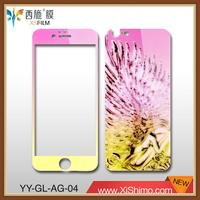 9H 2.5D LCD screen protector cover skin film with colorful design for Iphone6/6s