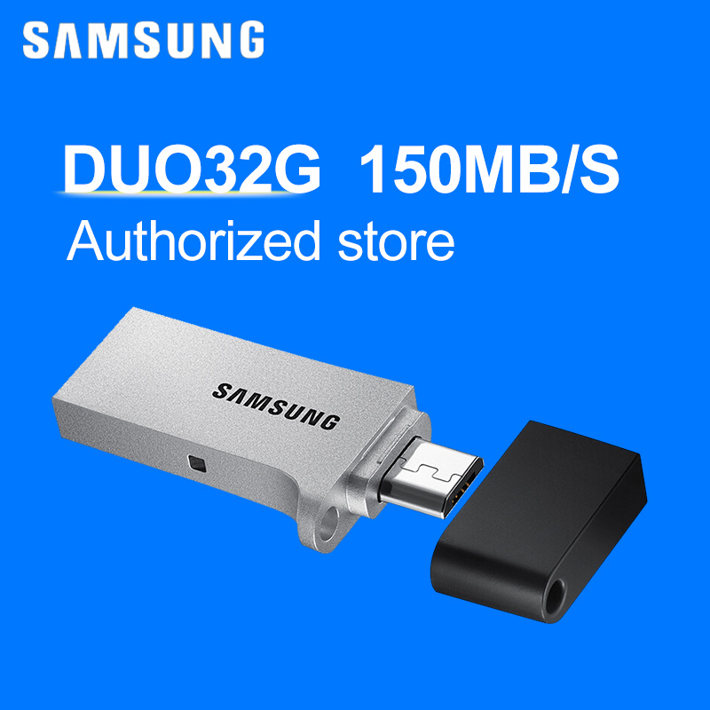100% original Samsung Duo USB 3.0 32G with for android memory card pen drive pendrive Samsung flash drive 16GB 32GB 64GB 128GB