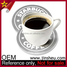 Wholesale Coffee Drink Custom Cup Aluminum Silver Metal Placemat