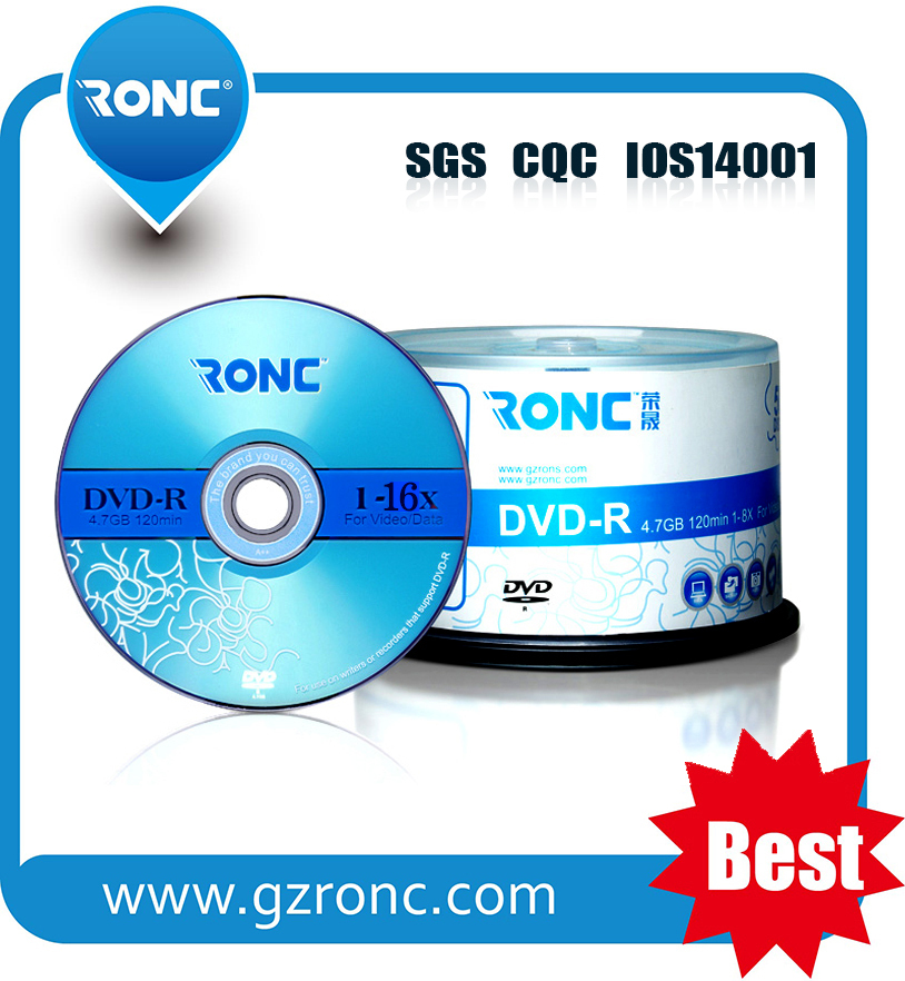 Blank DVD-R 4.7GB/8.5GB/9.4GB cake box package DVDs