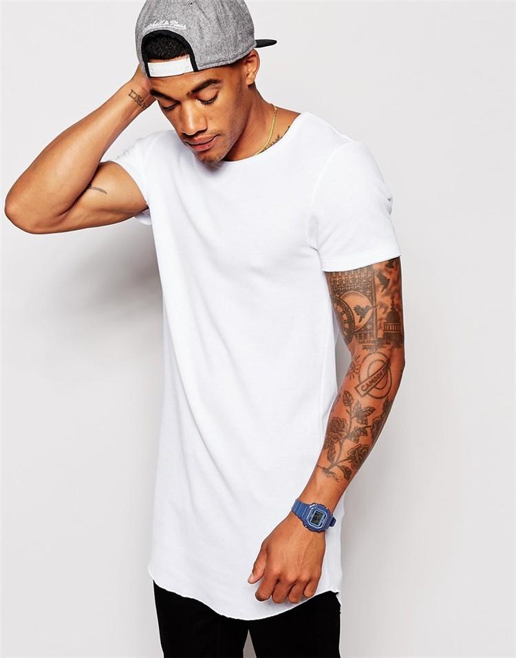 Plain t shirts bulk in china long length white plain for White t shirts in bulk