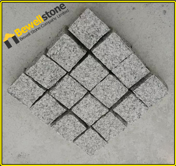 Chinese Cheap Granite Mesh Back Cobblestone Pavers For Driveway