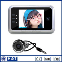 3.5inch door peephole camera with recorder with build-in memory