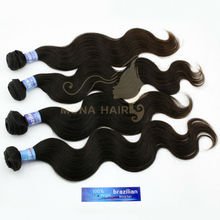 Finest quality brazillian body wave remy hair aaaaa brazilian human hair sew in weave