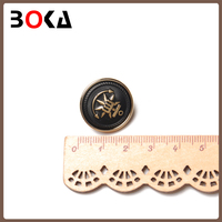 Factory sale latest fashion engraving abs button for coat double screw