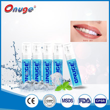 2017 high quality teeth whitening mouth accelerator mint spray