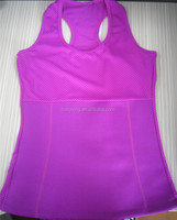 Neoprene slimming colorful mesh vest with pockets