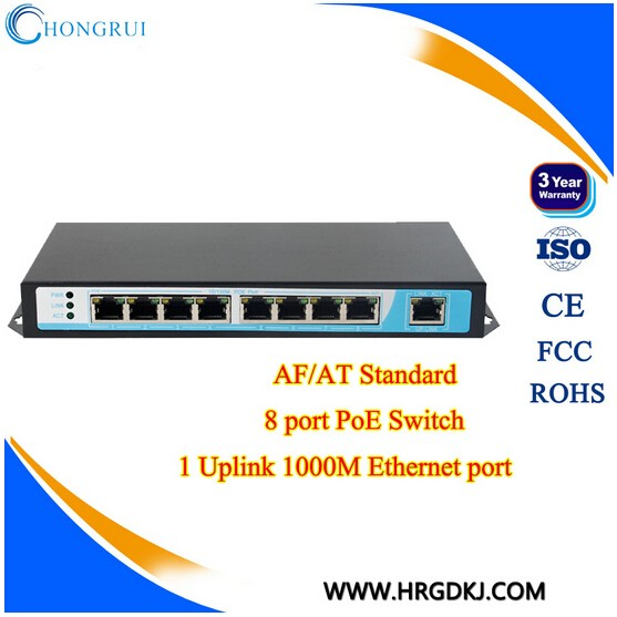 Full-Duplex/Half- Duplex gigabit poe switch 24v 48v POE network switches supply power for cameras