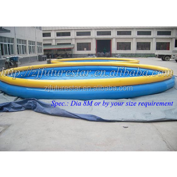 Recommended waterproof pvc round inflatable hard plastic for Plastik pool rund