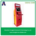 Hotel check in kiosk bill acceptor self payment kiosk with cash dispenser