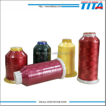 120D/2 polyester embroidery thread for mulitihead machines,bright and cheap