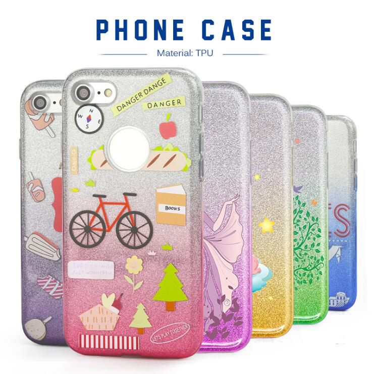 Alibaba China Custom Design Shining Cell phone Case For iphone 7,UV Printing For iphone 7 Plus case