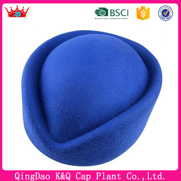 High Quality Blue Cheap Comfortable Air Hostess Hat