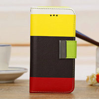 Hot Sales 2016 mixed color high quality wallet for iphone 5c case
