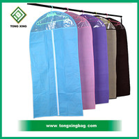 custom non woven suit cover/ wedding dress garment bags wholesale