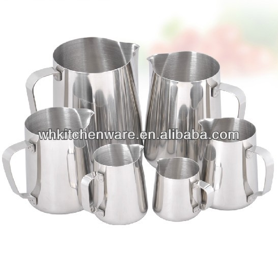 350/600/1000ML 20 Gauge 18/8 stainless steel milk frothing pitcher