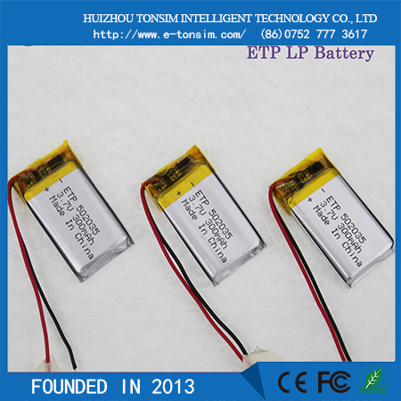 2016 TONSIM 3.7v thin lipo battery rechargeable battery li-ion 280mah li-ion battery for tablet pc