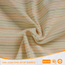 Gots certified organic unbleached cotton knit fabric for newborn baby cloth