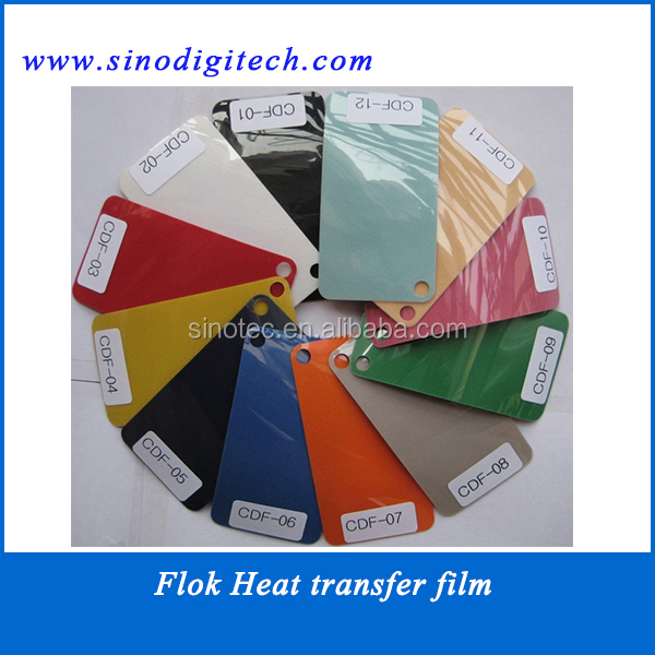 Flock material printing machine paper for heat transfer