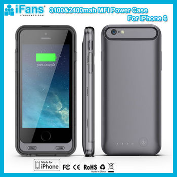 MFI 3100mAh New Battery Case For iPhone6 With limited Original 8Pin Connector