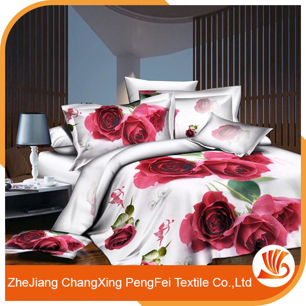 Embroidery 3d fabric painting designs for bed sheets