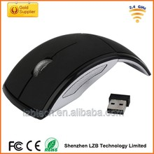New design fashionable computer mouse wireless foldable mouse