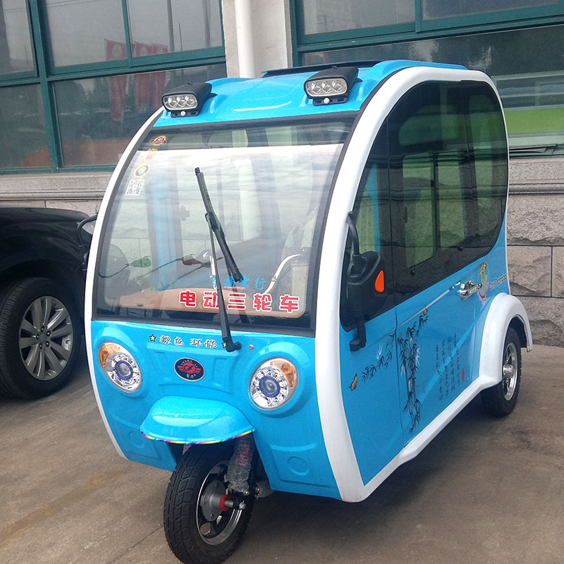 2017 closed cabin passenger tricycle electric auto rickshaw tuk tuk for sale