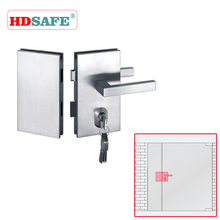 Stainless Steel security door lock for glass door in hotel