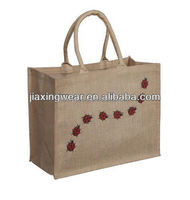 Hot sales 100% jute bag for shopping and promotiom,good quality fast delivery