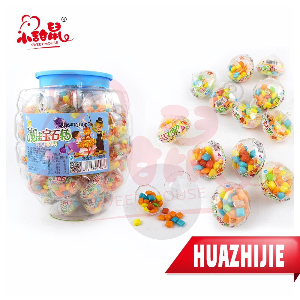708201611Magical Diamonds Shape Container Chewing Bubble Gum/ Mini Chewing Gum
