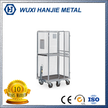 wire rolling storage cages,Logistics cart,Warehouse stack racking system wire container(HJ-RC605)